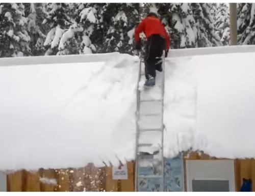 Miks ei tohiks teha lumetöid redelilt?